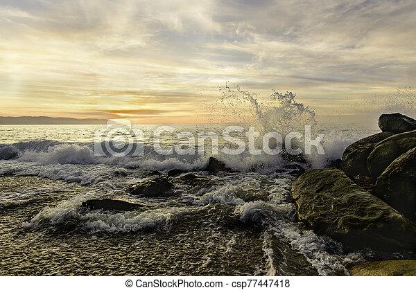 Ocean Sunset - csp77447418