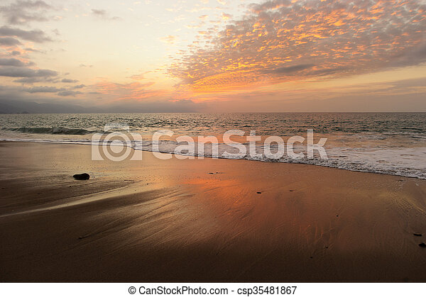 Ocean Sunset - csp35481867
