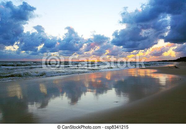 Ocean sunset - csp8341215