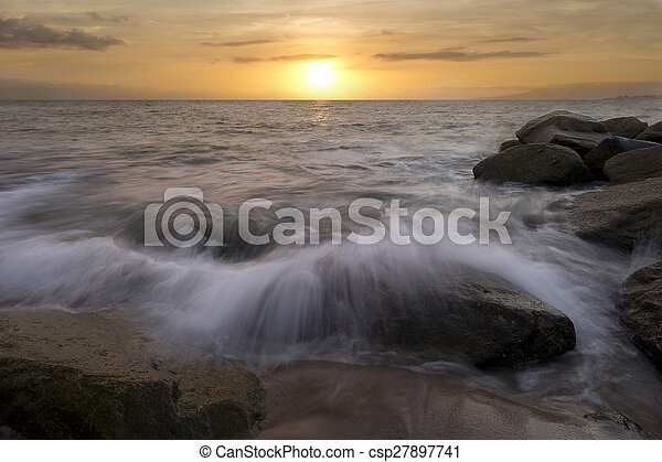 Ocean Sunset - csp27897741