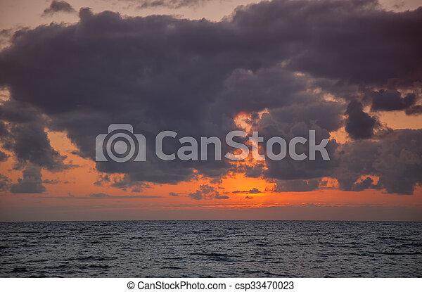 ocean sunset - csp33470023