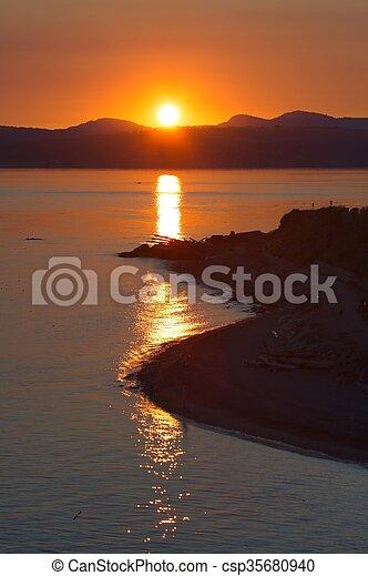 Ocean Sunset - csp35680940