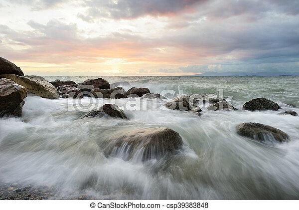 Ocean Sunset - csp39383848