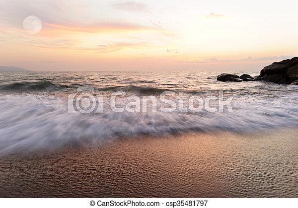 Ocean Sunset - csp35481797