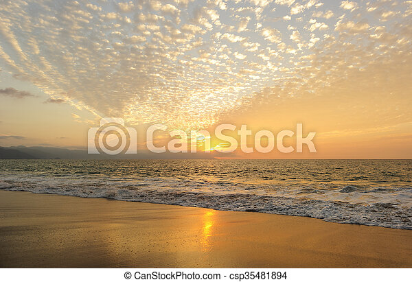 Ocean Sunset - csp35481894