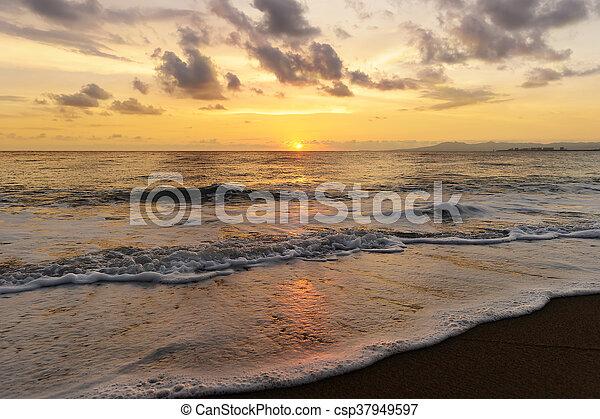 Ocean Sunset - csp37949597
