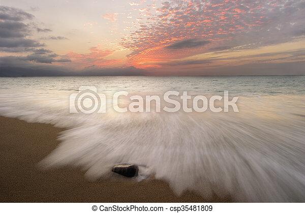 Ocean Sunset - csp35481809