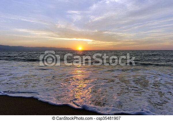 Ocean Sunset - csp35481907