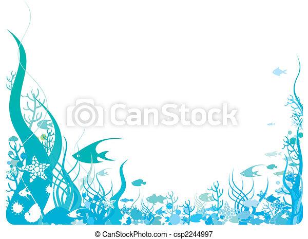 Ocean theme frame background.