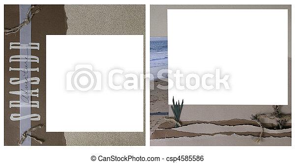ocean theme scrapbook frame template csp4585586