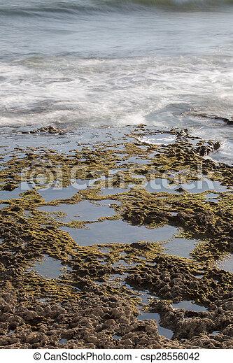 ocean water bathing the coastline - csp28556042