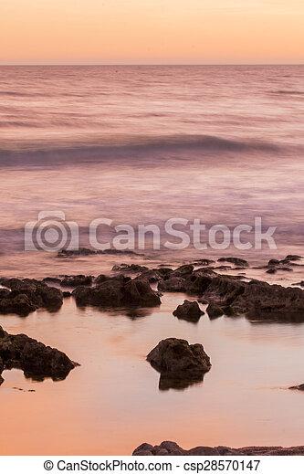 ocean water bathing the coastline - csp28570147