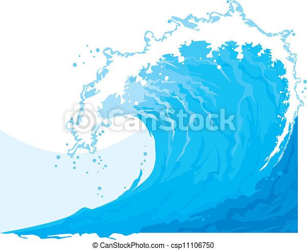 (ocean, wave), mer, vague - csp11106750