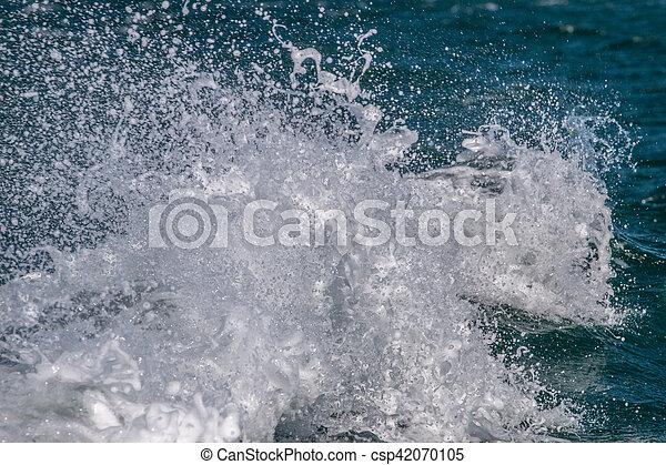 ocean waves crashing - csp42070105