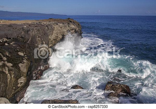 Ocean Waves Crashing - csp8257330