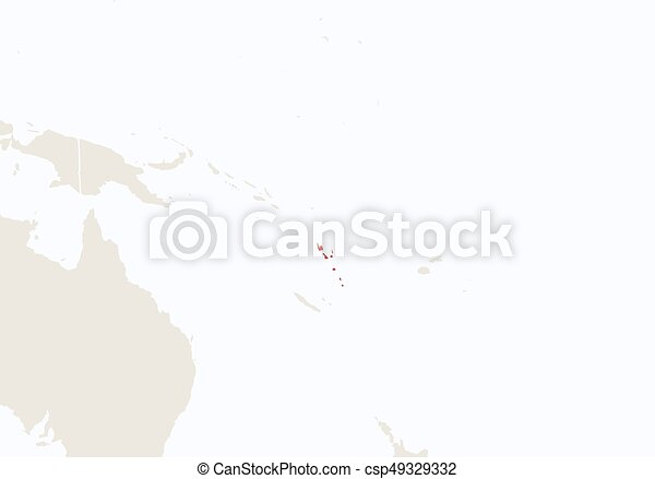 Oceania with highlighted vanuatu map vector illustration vectors