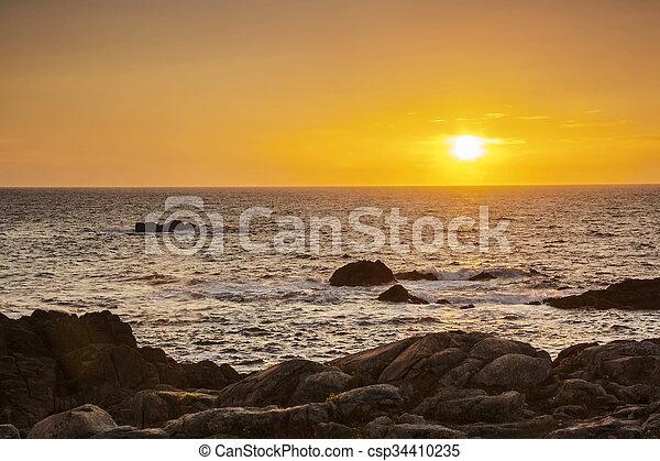 Oceanic sunset - csp34410235