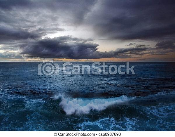 oceano tempestoso - csp0987690