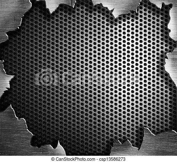 ocel, grunge, kov, grafické pozadí - csp13586273
