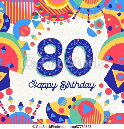 Una Tarjeta De 80 Años De Cumpleaños Feliz Cumpleaños 80