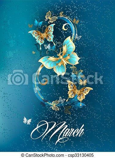 Ocho de mariposas de lujo - csp33130405