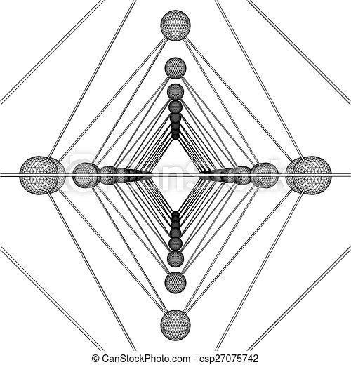 Octahedron DNA Molecule Structure  - csp27075742