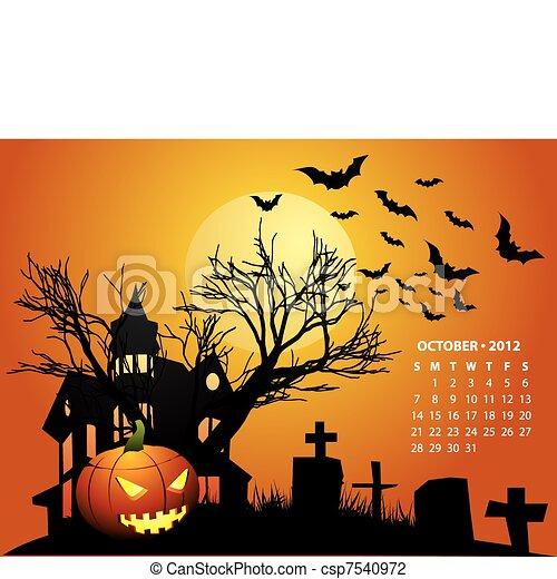 October Calendar 2012 - csp7540972