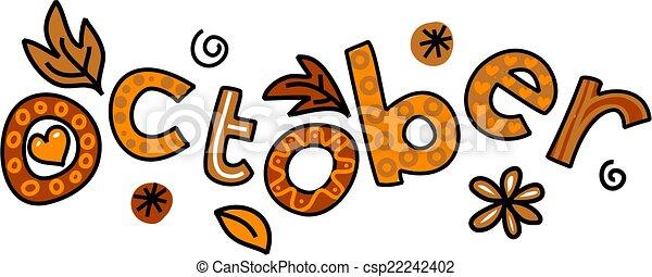 October Clip Art - csp22242402