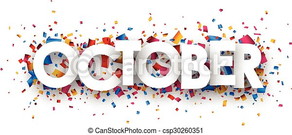 October sign. - csp30260351