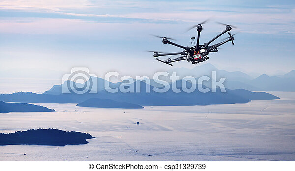 Octocopter, copter, drone - csp31329739