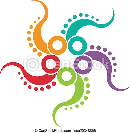 Octopus icon image - csp20348855