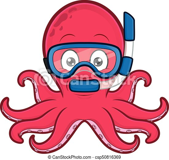 clipart picture of an octopus scuba diver cartoon character clip art rh canstockphoto com octopus clipart clipart octopus eyes