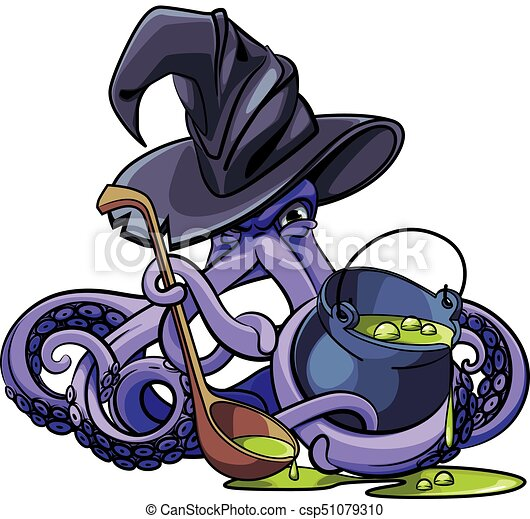 Octopus the Witch - csp51079310