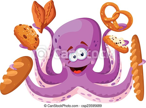 octopus with pastry - csp23595689