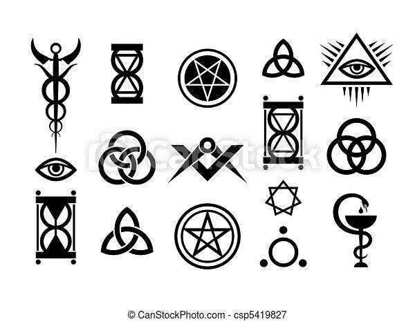 Signos ocultos y sellos mágicos - csp5419827