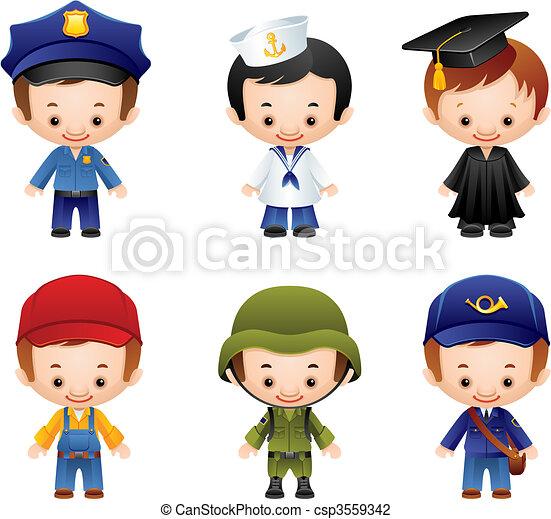 iconos de ocupación - csp3559342