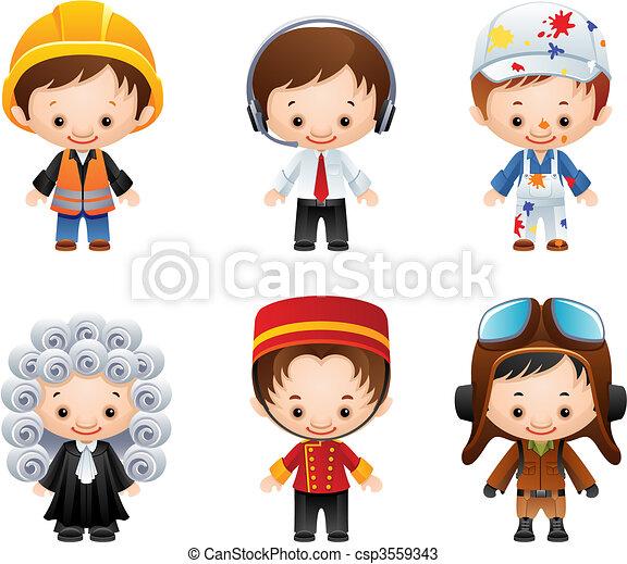 iconos de ocupación - csp3559343