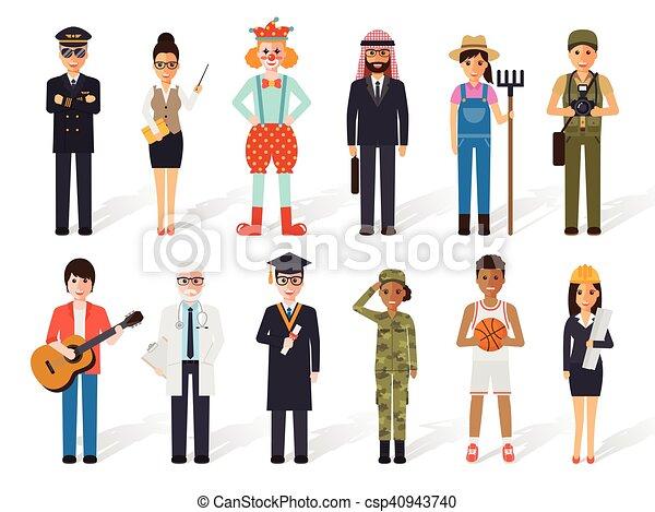 Gente de profesión - csp40943740