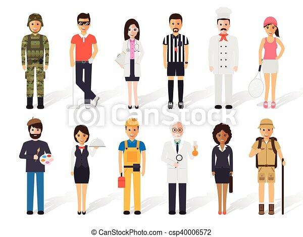 Gente de profesión - csp40006572