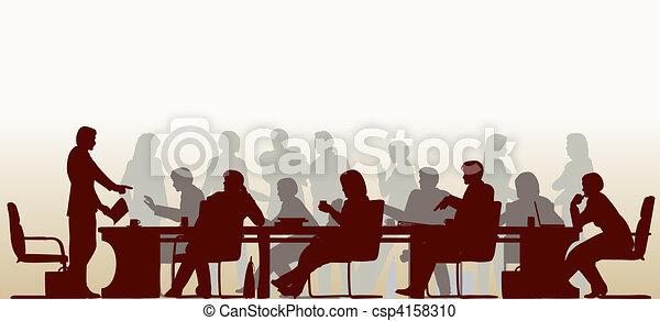Reunión ocupada - csp4158310