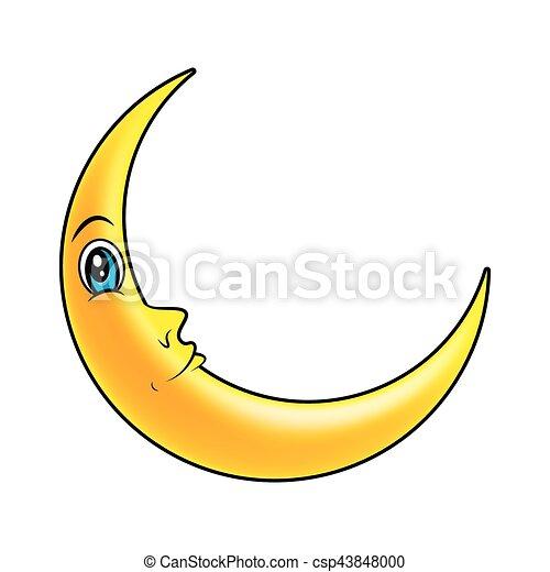 Oczy Symbol Księżyc Wektor Rosnący Ikona Rysunek Design Piękne Wejrzenie Symbol Odizolowany Ilustracja Księżyc Canstock