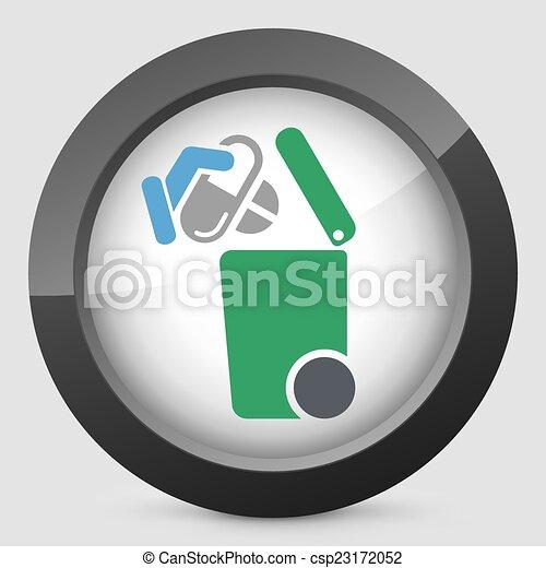 oddzielny, tracić, zbiór, ikona - csp23172052