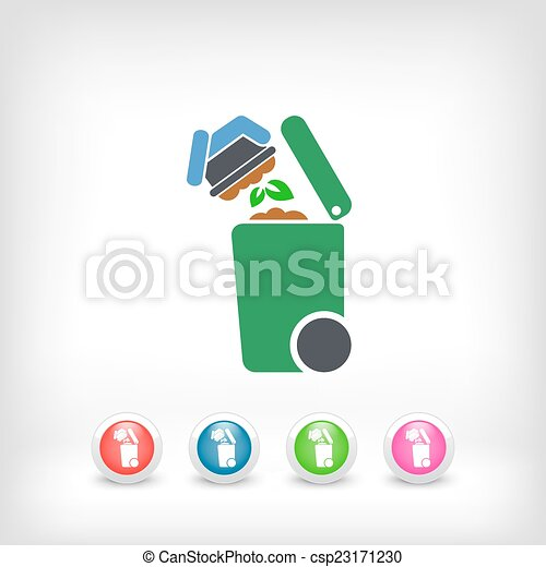oddzielny, tracić, zbiór, ikona - csp23171230
