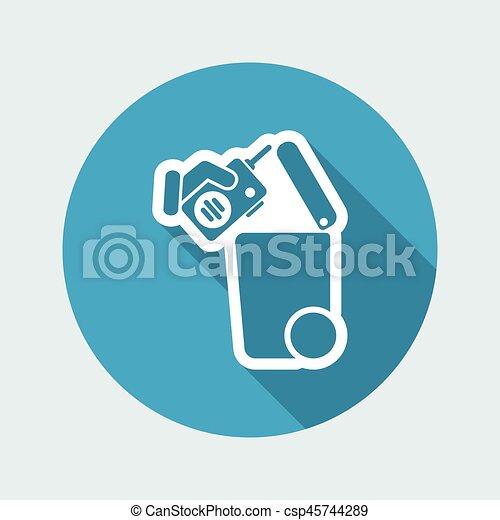 oddzielny, tracić, zbiór, ikona - csp45744289