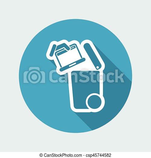 oddzielny, tracić, zbiór, ikona - csp45744582
