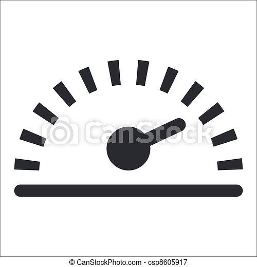 odizolowany, ilustracja, jednorazowy, wektor, szybkość, ikona - csp8605917
