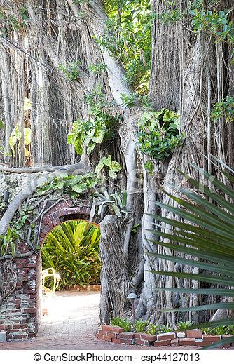 Key West Garden - csp44127013