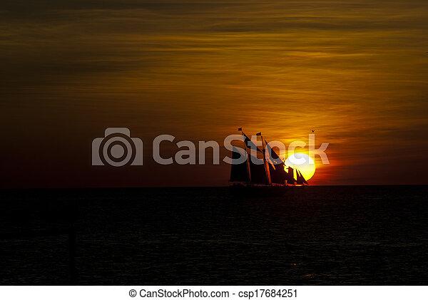 Key West Sunset - csp17684251