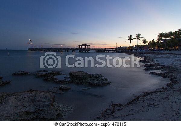 Sunset Key West - csp61472115