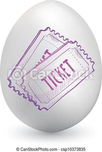 oeuf, paques, billets, événement - csp10373835